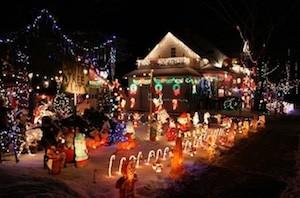 Christmas lights Woodstock GA