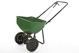 seed spreader to plant lawns